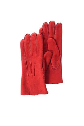 Gants rouge AGNELLE pour femme