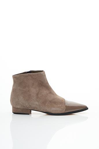 Bottines/Boots beige CRISTINA MILLOTTI pour femme