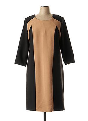 Robe mi-longue noir ANNE KELLY pour femme