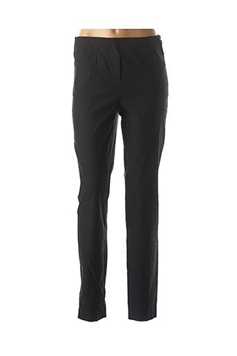 Pantalon casual noir ADELINA BY SCHEITER pour femme