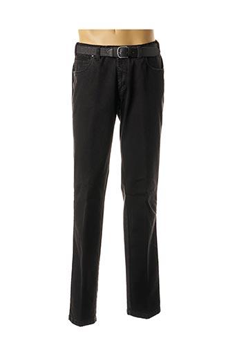 Jeans coupe droite noir LUIGI MORINI pour homme