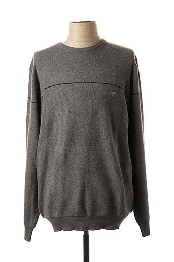 Pull col rond gris FYNCH-HATTON pour homme