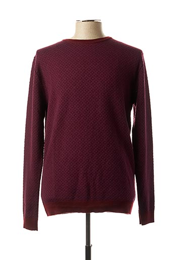 Pull col rond rouge DIKTAT pour homme