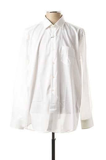 Chemise manches longues blanc PIERRE CARDIN pour homme