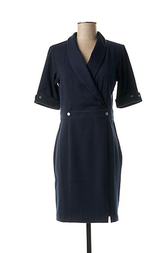 Robe mi-longue bleu LOLA ESPELETA pour femme