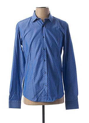 Chemise manches longues bleu HOPENLIFE pour homme