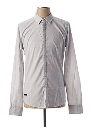 Chemise manches longues gris HOPENLIFE pour homme