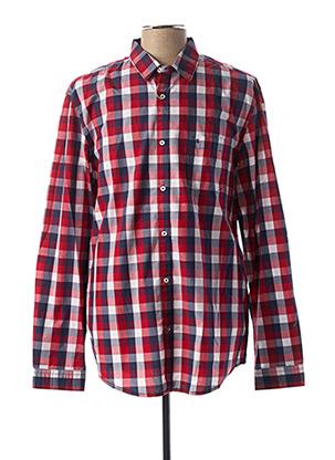 Chemise manches longues rouge SALSA pour homme
