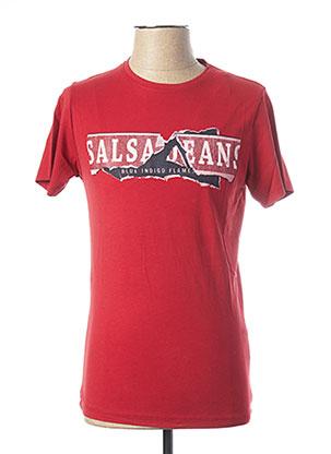 T-shirt manches courtes rouge SALSA pour homme