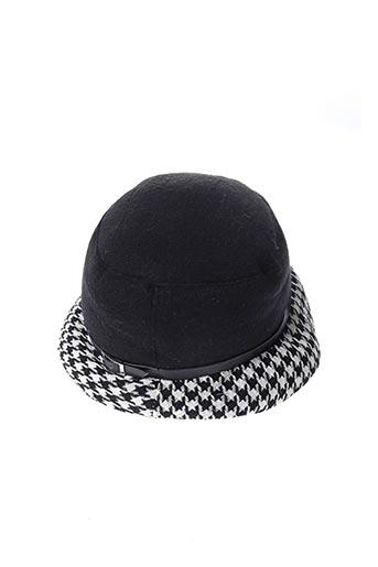 Chapeau noir BASILE pour femme
