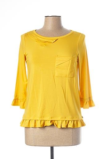 T-shirt manches longues jaune MADO ET LES AUTRES pour femme