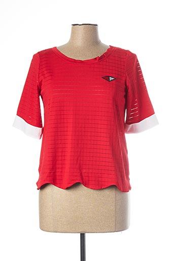 T-shirt manches longues rouge MADO ET LES AUTRES pour femme