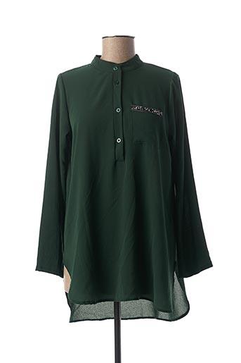 Tunique manches longues vert MINSK pour femme