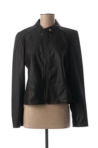 Veste simili cuir noir MINSK pour femme