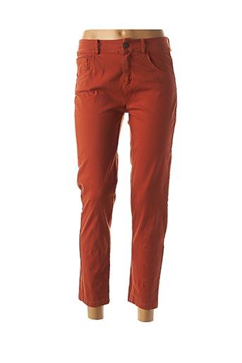 Pantalon 7/8 orange MADO'S SISTER pour femme