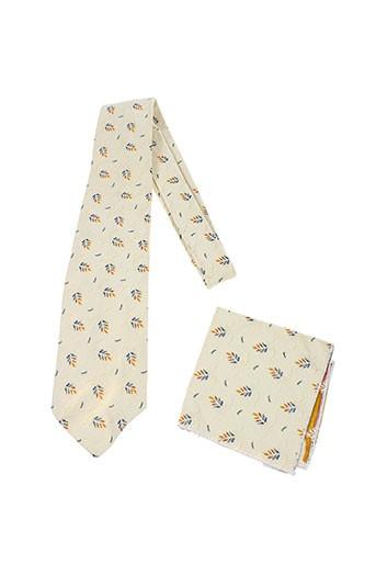 Cravate beige BAL MASQUE pour homme