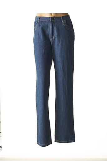 Jeans coupe droite bleu VIRGINIE & MOI pour femme