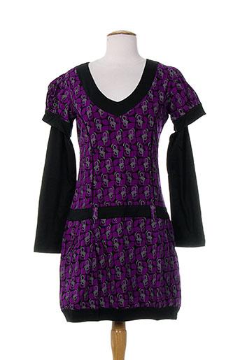 Robe mi-longue violet BAMBOO'S pour femme