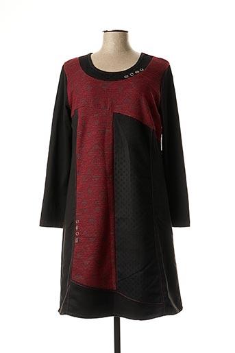 Robe mi-longue rouge FIGURE LIBRE pour femme