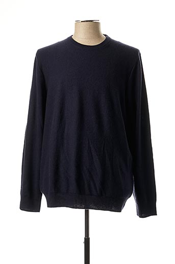 Pull col rond bleu HACKETT pour homme