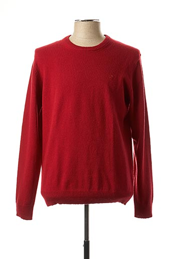 Pull col rond rouge HACKETT pour homme