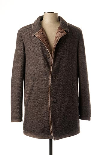 Manteau long marron GMS-75 pour homme