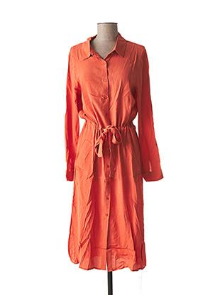 Robe mi-longue orange GRACE & MILA pour femme