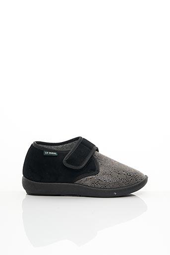 Chaussons/Pantoufles gris LA VAGUE pour femme