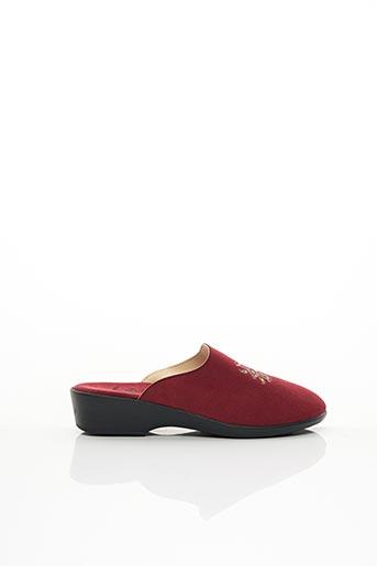 Chaussons/Pantoufles rouge LADY pour femme