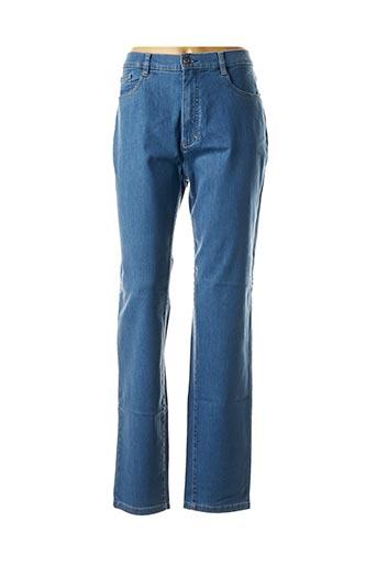 Jeans coupe droite bleu SAINT HILAIRE pour femme