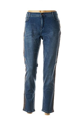 Jeans coupe droite bleu TUZZI pour femme