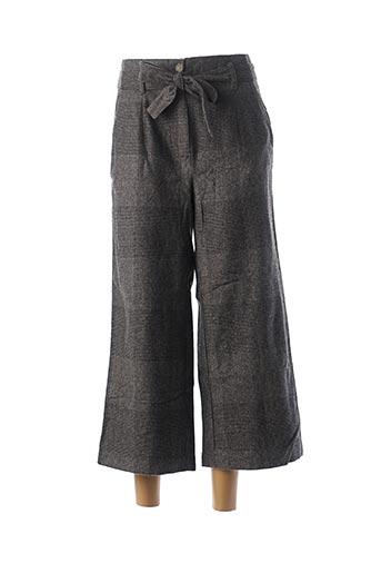 Pantalon 7/8 gris BLANC BOHEME pour femme