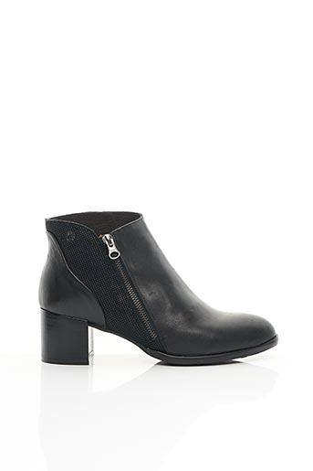 Bottines/Boots noir APPLE LOVE pour femme
