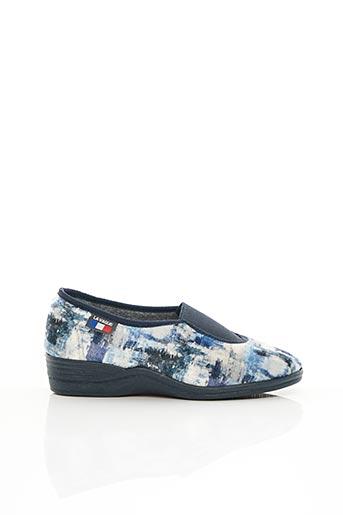 Chaussons/Pantoufles bleu LA VAGUE pour femme