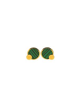 Boucles d'oreilles vert LA COQUE DE NACRE pour femme