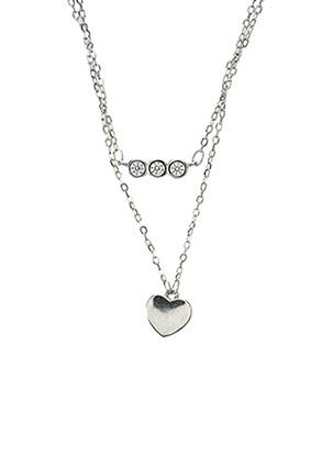 Collier gris IKPS pour femme