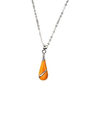 Collier orange IKPS pour femme