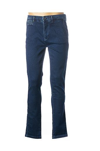 Jeans coupe droite bleu HERO SEVEN pour homme