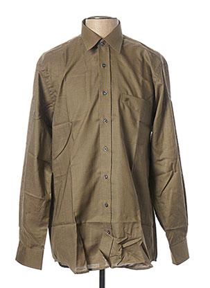 Chemise manches longues vert JEAN CHATEL pour homme