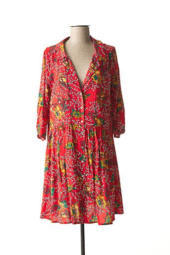 Robe courte orange PAKO LITTO pour femme