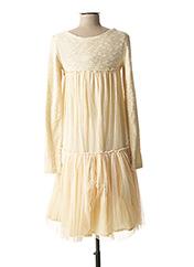 Robe mi-longue beige ZOE LA FEE pour femme seconde vue