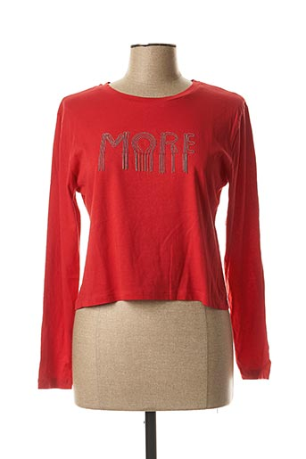 T-shirt manches longues rouge BECKARO pour fille