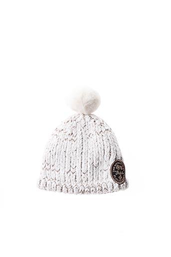 Bonnet blanc IKKS pour enfant