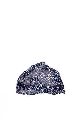 Bonnet bleu 3 POMMES pour fille