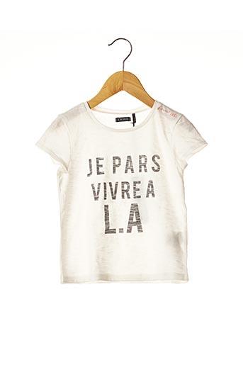 T-shirt manches courtes blanc IKKS pour fille
