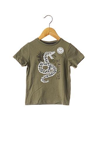 T-shirt manches courtes vert 3 POMMES pour fille