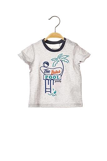 T-shirt manches courtes gris IKKS pour garçon