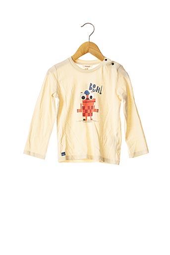 T-shirt manches longues beige CATIMINI pour garçon