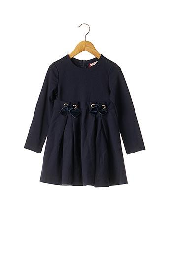 Robe mi-longue bleu LILI GAUFRETTE pour fille