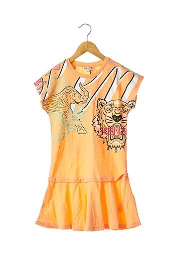 Robe mi-longue orange KENZO pour fille